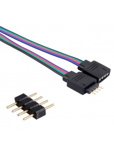 RGB Strip 4-Pin Male & Female Connector